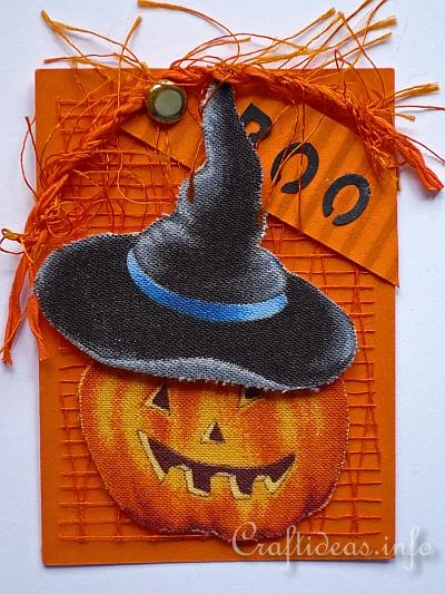 ATC Craft - Laughing Jack o' Lantern Artist Trading Card