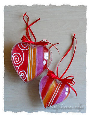 Acrylic Hanging Heart Ornaments