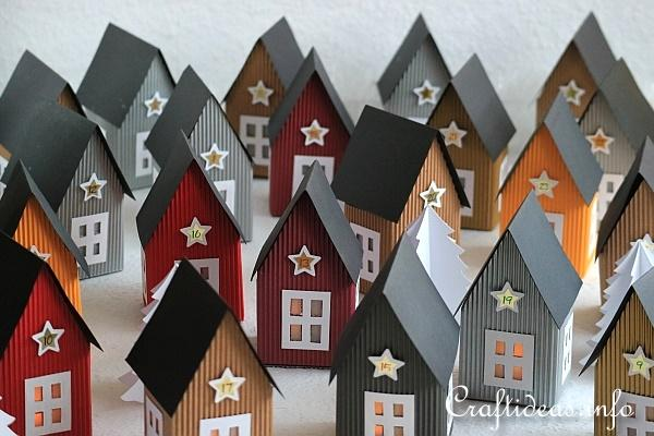 Advent Calendar - Paper Scandinavian Houses
