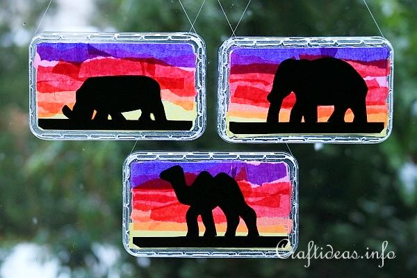 Craft For Kids African Animal Suncatchers