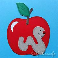 Apple and Worm Paper Piecing Project for Kids