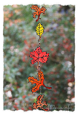Autumn Crafts - Glass Paint Leaves Decoration