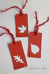 Autumn Leaf Tag