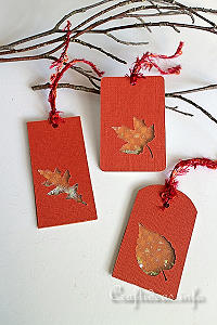 Autumn Leaves Shaker Tag