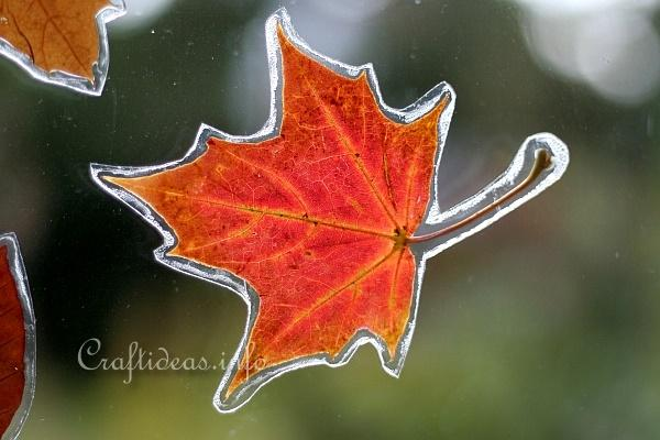 Autumn Leaves Window Decoration 2