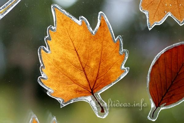 Autumn Leaves Window Decoration 3