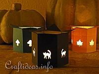 Autumn Paper Tea Light Holders