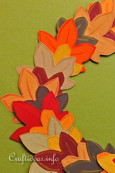 Autumn Paper Wreath for Kids 2