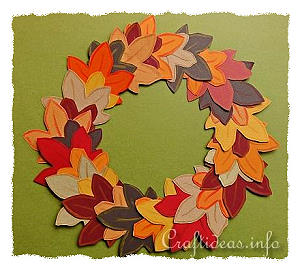 Autumn Paper Wreath for Kids
