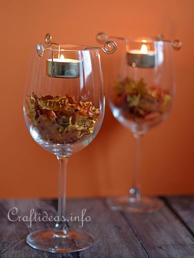 Autumn Tea Lights Decoration
