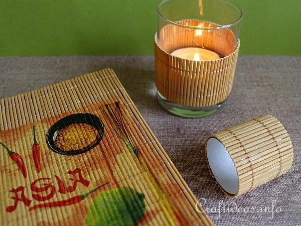 Bamboo Set - Cookbook, Tealight Cover and Napkin Ring