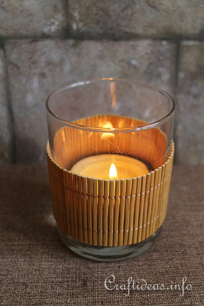 Bamboo Tealight Glass Cover