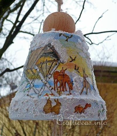 Free Christmas Craft Project Clay Pot Birdfeeder