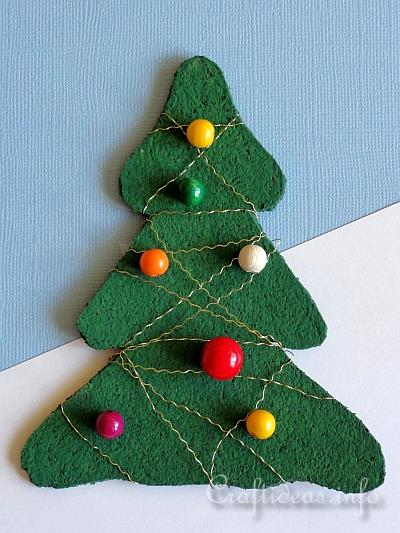 Free Christmas Craft Project Cork Christmas Tree
