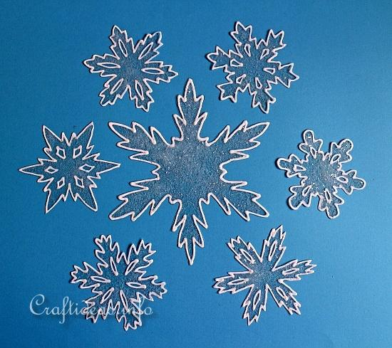 Basic Christmas Craft Ideas - Snowflake Window Clings for Winter