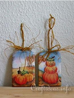 Basic Craft for Fall and Halloween - Shindles with Halloween Motifs