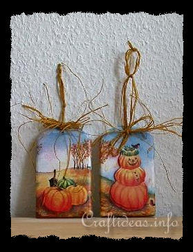 Basic Craft for Fall and Halloween - Shingles with Halloween Motifs