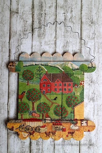 Basic Craft for Spring - Craft Stick Picture with Farm Scene