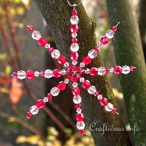 Beaded Snowflake or Star Ornament