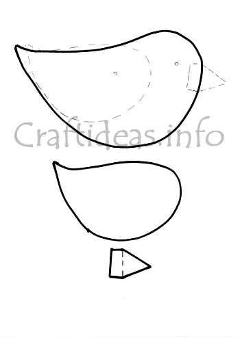Spring crafts bird template for Bird templates to cut out