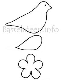 Bird and Flower Craft Pattern