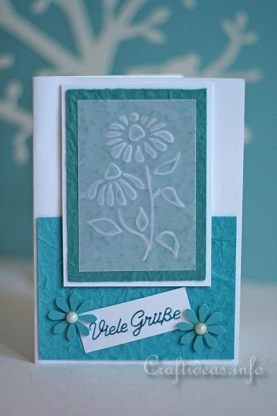 Summer greeting and birthday card embossed daisies birthday card embossed daisies card m4hsunfo