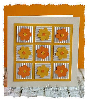 Birthday Card - Greeting Card - Cheery Patchwork Flowers Card