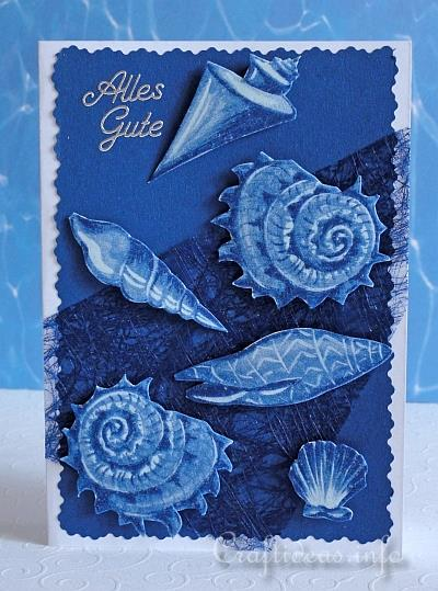 Birthday Card - Greeting Card - Maritime - Seashells Card