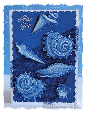 Birthday Card - Greeting Card - Maritime - Seashells Card 300