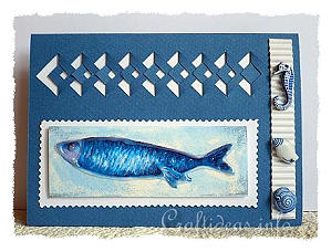Birthday Card - Greeting Card - Maritime Card with Blue Fish