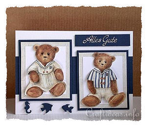 Birthday Card - Maritime Bears Card
