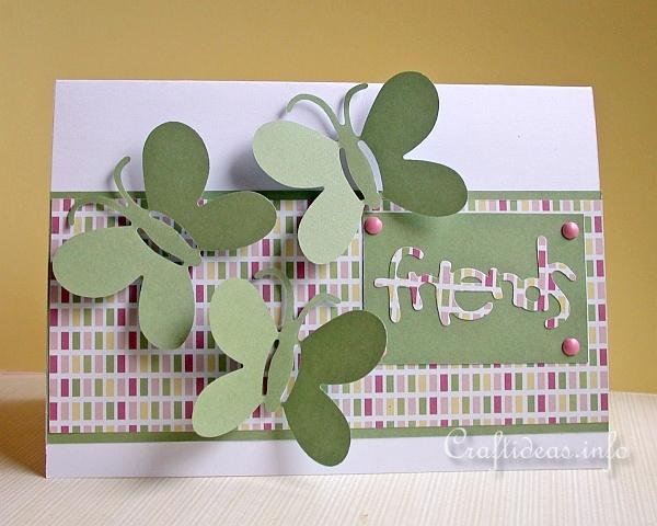 Birthday Card - Spring Card - Friendship Card with Butterflies for all Occasions