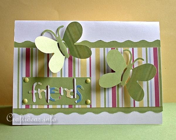 Birthday Card - Spring Card - Friendship Card with Butterflies for all Occasions 2
