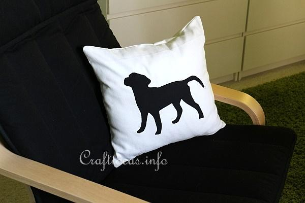 Black Labrador Pillow Sewing Project