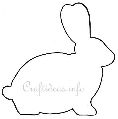 Easter template easter bunny shape for a wooden easter for Bunny rabbit templates free