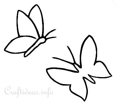 Butterfly Templates Or Coloring Book Page For Kids