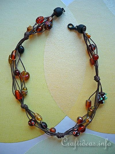 Casual Sommer Necklace - Brown