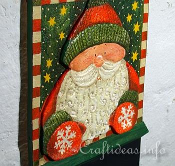 Chalkboard with Santa Claus - Details