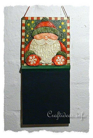 Chalkboard with Santa Claus