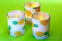 Cheery Pineapple Tealight Glasses