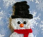 Chenille Snowman Plant Stick or Bookmarker