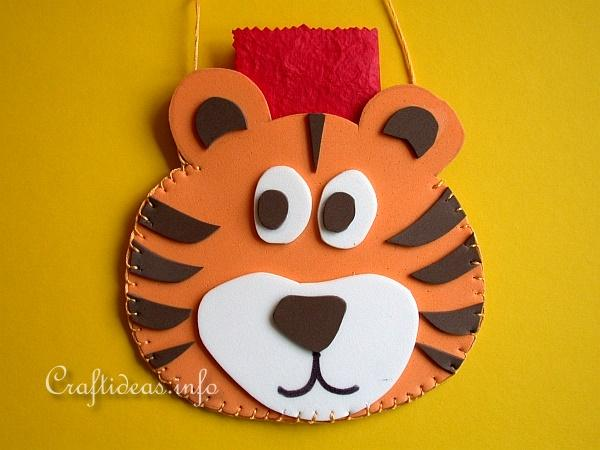 Chinese New Year 2010 Craft - Fun Foam Tiger Pouch 2