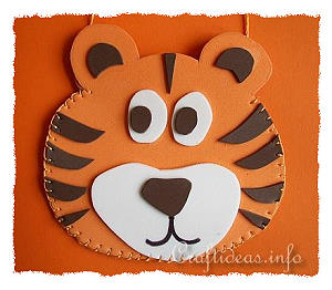 Chinese New Year 2010 Craft - Fun Foam Tiger Pouch