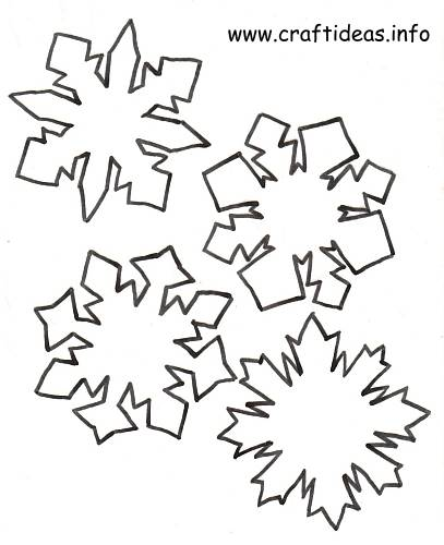 Free Christmas And Winter Craft Patterns Snowflakes 2