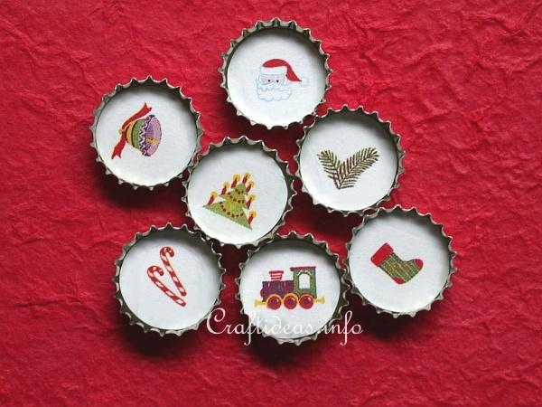 Free Christmas Craft Recycling Craft Bottle Cap Dekoration Magnificent How To Decorate Bottle Caps