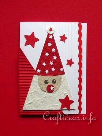 Christmas Card - Cute Santa Greeting Card for the Holidays