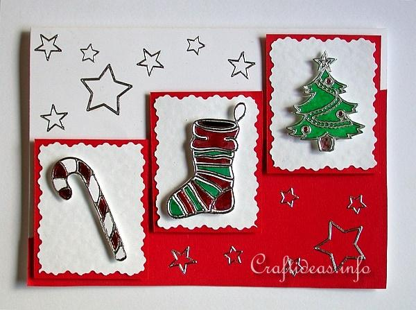 Christmas Card - Frohe Festtage - Peel Off Stickers