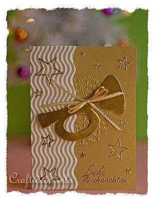 Christmas Card - Gold Trumpet Greeting Card for the Holidays