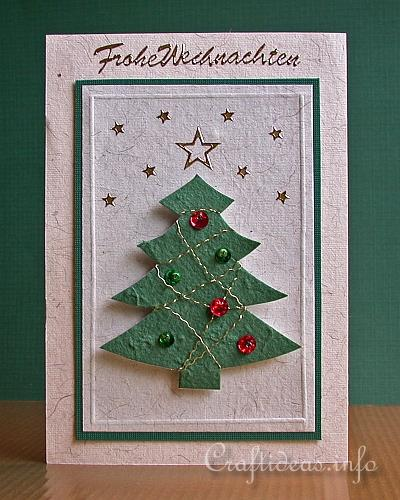 Free christmas card ideas jeweled christmas card christmas card jeweled christmas tree with beads and sequins m4hsunfo