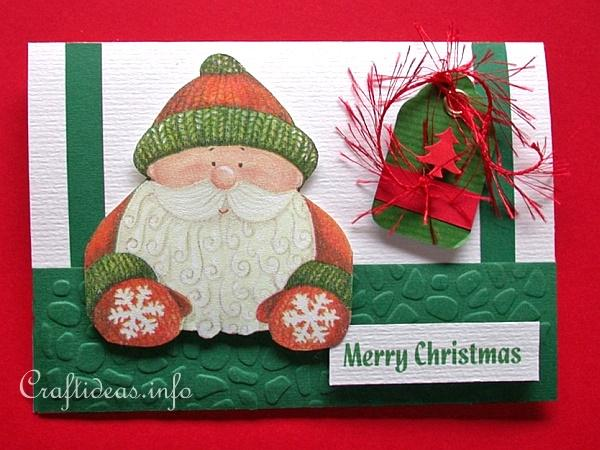Christmas Card - Jolly Santa Greeting Card for the Holidays